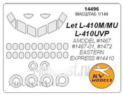 14496 KV Models 1/144 Set of painting masks for glazing models L-410