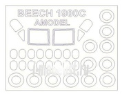 72596 KV Models 1/72 Набор окрасочных масок для остекления модели Beechcraft 1900С / С-12J Huron + маски на диски и колеса