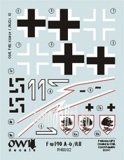 OWLDS48002 OWL 1/48 Decal Fw 190 A-6/R11 Nachtjager