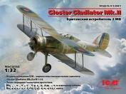 32041 ICM 1/32 ,Gloster Gladiator Mk.IIбританский  истребитель II MB