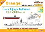 7112 Dragon 1/700 U.S.S.R. Admiral Nakhimov + U.S.S. Dallas (SSN-700) (Orange Series)