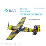 QD48127 Quinta Studio 1/48 3D Cabin Interior Decal IAR-80 (for HobbyBoss model)