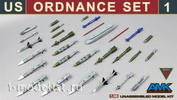 88E01 AMK 1/48 US Ordnance Set #1