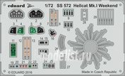 SS572 Eduard 1/72 Цветное фототравление для Hellcat Mk. I Weekend
