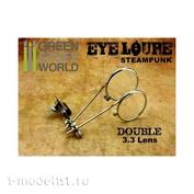1157 Green Stuff World Лупа для глаз с двойными линзами / EYE LOUPE - Double Lens
