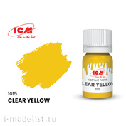 C1015 ICM Paint for creativity, 12 ml, color Transparent yellow (Clear Yellow)