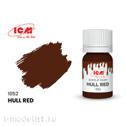 C1052 ICM Paint for creativity, 12 ml, color Red-brown (Hull Red)