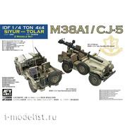 AF35S99 AFVClub 1/35 Разведывательная машина DF 1/4 ton 4x4 M38A1 / CJ-5 Siyur + Tolar Recoilless Rifle Vehicle (в наборе 2 модели)