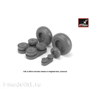 AW48202 Armory 1/48 Wheels for Junkers Ju 88 late with loaded tires