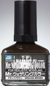 WC02 Gunze Sangyo Смывка MR.WEATHERING Color - Ground Brown