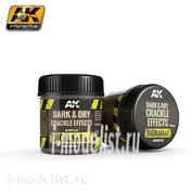 AK8032 AK Interactive Dark & Dry Crackle Effects 100ml (Эффект потрескавшейся земли, темная и сухая)