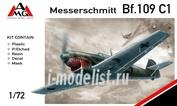 72405 AMG Models 1/72 Самолет Messerschmitt Bf.109C-1