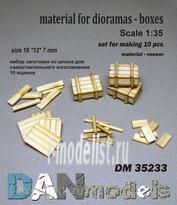 DM35233 DANmodel 1/35 Набор для изготовления 10 деревянных ящиков