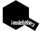 82103 Tamiya LP-3 Flat Black (Черная матовая) Лаковая краска 10мл.