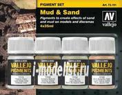 73191 Vallejo Set of dry pigments - Dirt, Sand / 4cv.