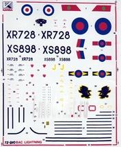 72010 Kanga 1/72 Декаль на самолет BAC Lighthing F Mk6