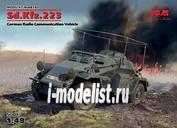 48192 ICM 1/48 Sd.Kfz.223, Германский бронеавтомобиль радиосвязи ІІ МВ