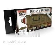 AMIG7111 Ammo Mig Acrylic paint Set I WW BRITISH & GERMAN COLORS (German & British colors)