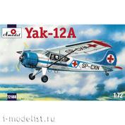72188 Amodel 1/72 Самолет Яковлев Як-12А