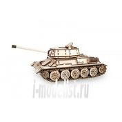 1-07 EWA Collectible mechanical model wood Tank T-34