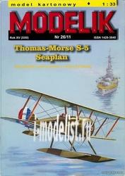 MD26/11 Modelik 1/33 Thomas-Morse S-5 Seaplan