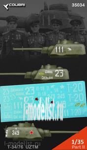 35034 ColibriDecals 1/35 Decal for T-34/76 wydanie UTM Part II