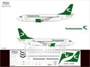 733-006 Ascensio 1/144 Декаль на самолет боенг 737-300 (Turkmenstan Arlines)