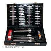4007 Jas Набор ножей с цанговым зажимом, 51 предметов