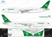763-012 Ascensio 1/144 Декаль на самолёт боенг 767-300 (Turkmenistan Airlines)