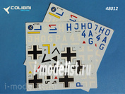 48012 ColibriDecals 1/48 Decal for Hs-123 over the USSR