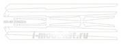 14826 KV Models 1/144 Набор окрасочных масок для самолета Илюшин-62М