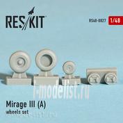 RS48-0027 RESKIT 1/48 Mirage III (A) Resin wheels