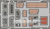 32600 Eduard 1/32 Фототравление привязные ремни Fw 190 seatbelts S.A.