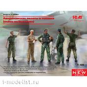 48087 ICM 1/48 Американские пилоты и техники (война во Вьетнаме) (5 фигур)