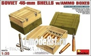 MiniArt 1/35 35073 Soviet 45 mm shells with boxes
