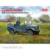 35584 ICM 1/35 le.gl.Einheitz-Pkw Kfz.4, Немецкий легкий зенитный автомобиль II МВ