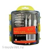 4013 Jas Набор ножей с цанговым зажимом (алюминий), 14 предметов