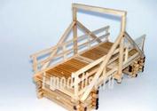 W3524 Бастион 1/35 Мост подвесной конструкции (Материал: дерево)