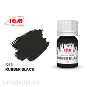 C1039 ICM Paint for creativity, 12 ml, color Rubber black (Rubber Black)