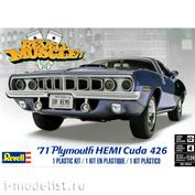 12943 Revell 1/24 Car 71 HEMI ' Cuda Hardtop