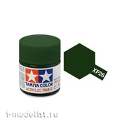 81726 Tamiya XF-26 Deep Green (Насыщенная зеленая)Акриловая краска