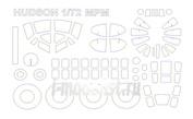 72112 KV Models 1/72 Набор окрасочных масок для Hudson Mk.I/ II / IV /V + маски на диски и колеса