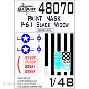 48070 SX-Art 1/48 Окрасочная маска P-61 Black Widow (HobbyBoss) Max