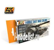 AK-564 AK Interactive Смеси для нанесения эффектов MIDDLE EAST WAR COLORS VOL. 1 (война на Ближнем востоке, первый набор)