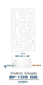 M48003 ColibriDecals 1/48 Mask for Bf-109 G-6 (Zvezda)