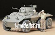 35228 Tamiya 1/35 U.S. M8 Light Armored Car Greyhound Американский Бтр 1943г. с деталями внутреннего интерьера и одной фигурой.