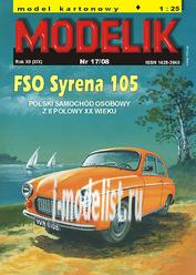 MD17/08 Modelik 1/25 Syrena 105