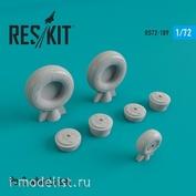 RS72-0189 RESKIT 1/72 ПЕ-2 смоляные колеса
