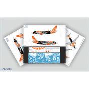 737-025 Ascensio 1/144 Декаль для 737-700