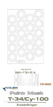 M72002 ColibriDecals 1/72 Mask for T-34/su-100 (Zvezda/Dragon)